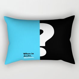 Lab No. 4 -When in doubt disclose N.r. Narayana Murthy Inspirational Corporate Startup Quotes Poster Rectangular Pillow