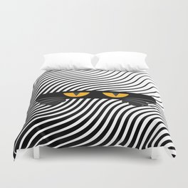 The Scaredy Cat Duvet Cover