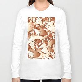 Pattern brown 156 Long Sleeve T-shirt