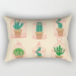 Cactus in birdcage Rectangular Pillow