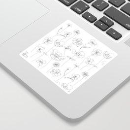 Botanical illustration drawing - Botanicals White Sticker