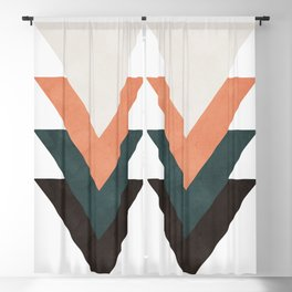 Abstract Triangles Blackout Curtain