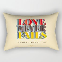 Love Never Fails! Rectangular Pillow