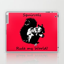 Squirrels Rule My World Red Laptop & iPad Skin