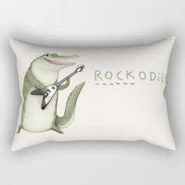 Rockodile Rectangular Pillow