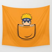 naruto Wall Tapestries featuring Naruto pocket by Buby87