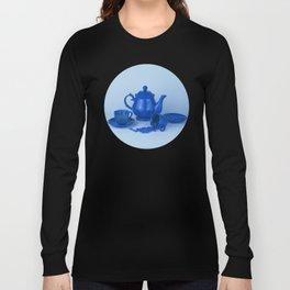 Blue tea party madness - still life Long Sleeve T-shirt