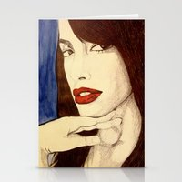 aaliyah Stationery Cards featuring Aaliyah by DeMoose_Art