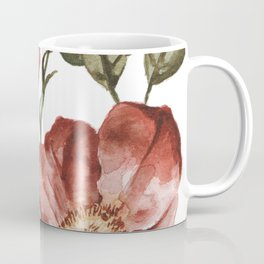 Red Floral Painting Coffee Mug