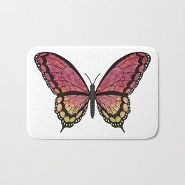 garnet jewel (Juelrye rhodo) fantasy butterfly Bath Mat