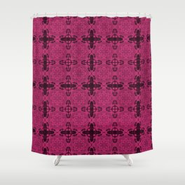 Pink Yarrow Abstract Shower Curtain