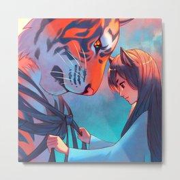 Tangled Tiger Metal Print