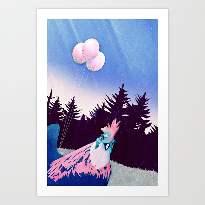 What the Hegg (Pink Version) Art Print