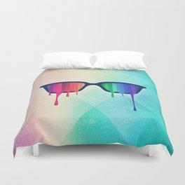 Love Wins! Rainbow - Spectrum (Pride) / Hipster Nerd Glasses Duvet Cover