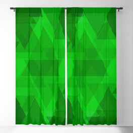 Bright green large triangles in the intersection and overlay. Blackout Curtain
