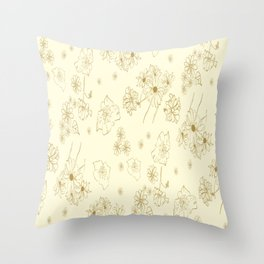 PALE DAISYS Throw Pillow