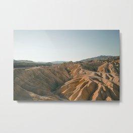 Zabriskie Point, Death Valley CA Metal Print