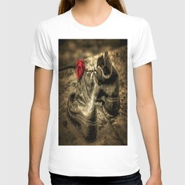 Shoes On The Danube Bank Art T-shirt