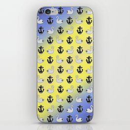 Captain Swan – Lieutenant Duckling pattern iPhone Skin
