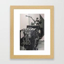 Vintage Motorcycle Framed Art Print