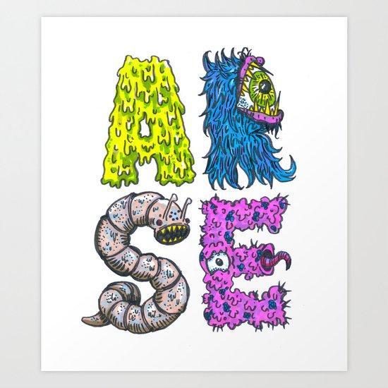 ARSE Art Print