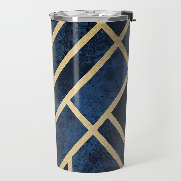 Art Deco Midnight Travel Mug
