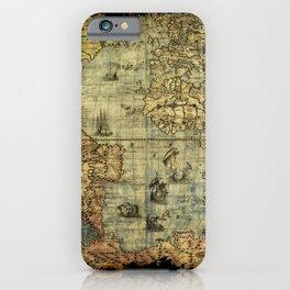 Vintage Old World Map iPhone Case