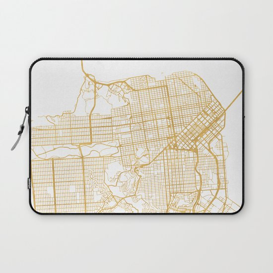 SAN FRANCISCO CALIFORNIA CITY STREET MAP ART by deificusart