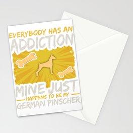 German Pinscher Funny Dog Addiction Stationery Cards