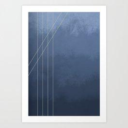 Moods in Blue-Gray Art Print