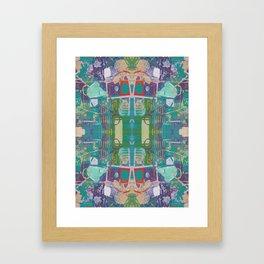 Blue Purple Green Acrylic Mirror Pattern Framed Art Print