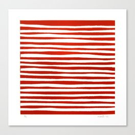 Waterline Pattern in Red Canvas Print