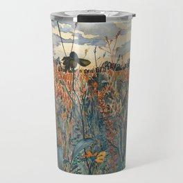 Wildflowers in Velvet Travel Mug