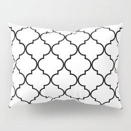 Quatrefoil - White and Black Pillow Sham
