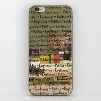 politics iPhone & iPod Skins featuring Politics Emptiness by Neil Campau