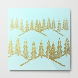 Golden taiga Metal Print