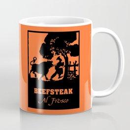 Beefsteak al fresco, silhouette art Coffee Mug