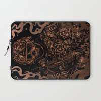 military Laptop Sleeves featuring Military skull by barmalisiRTB