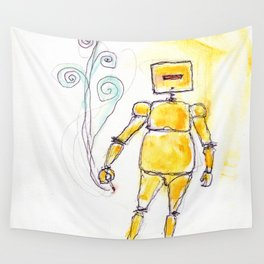 Yellow Wants To Go Out Like A Blister In The Sun Wall Tapestry