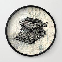 Vintage French Typewriter Wall Clock