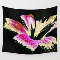 lily Wall Tapestries featuring Lily by Vitta