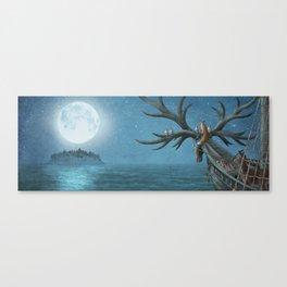 An Island Appeared Canvas Print