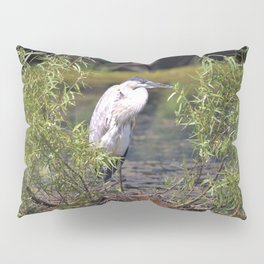 Great Heron  in the Lake by Reay of Light Pillow Sham