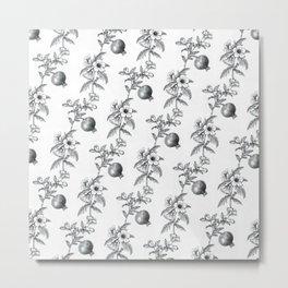 Pomegranate & Black Henbane Pattern Metal Print