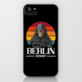 Berlin Retro Monkey Berliner iPhone Case
