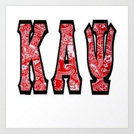 Kappa Alpha Psi Classic Bandana Art Print