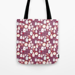 Alice in Wonderland - Purple Madness Tote Bag