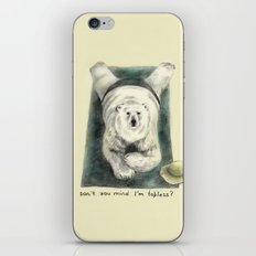Don't you mind I'm topless? // polar bear iPhone & iPod Skin