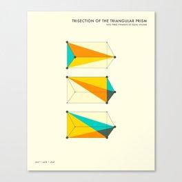 PRISM TRISECTION (b) Canvas Print