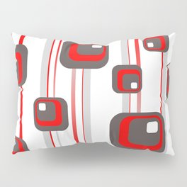 Vintage Retro Graphic white Pillow Sham